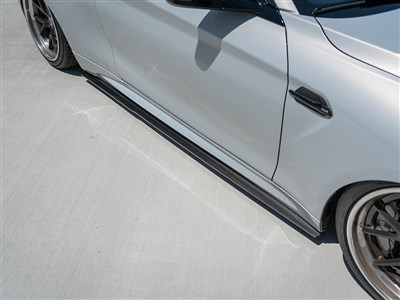 RW Signatures F87 M2 CF Side Skirt Extensions /